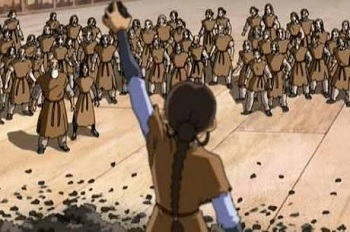 I am Katara, the girl who has freed you! I shouldn't have to ask this, but please, when history remembers this, don't make me a boy for no reason!