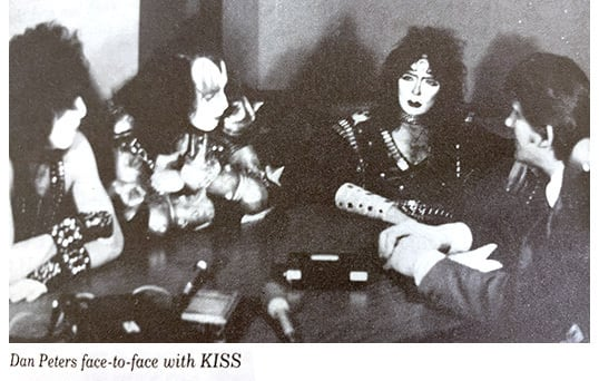 Dan Peters face-to-face with KISS