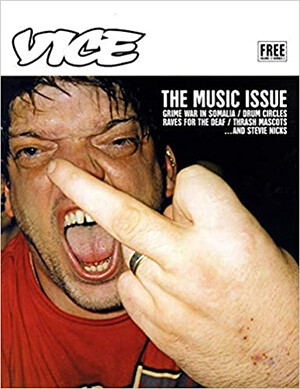 4 Embarrassing Moments In The History Of Big Sites cover of Vice magazine of a guy giving the middle finger