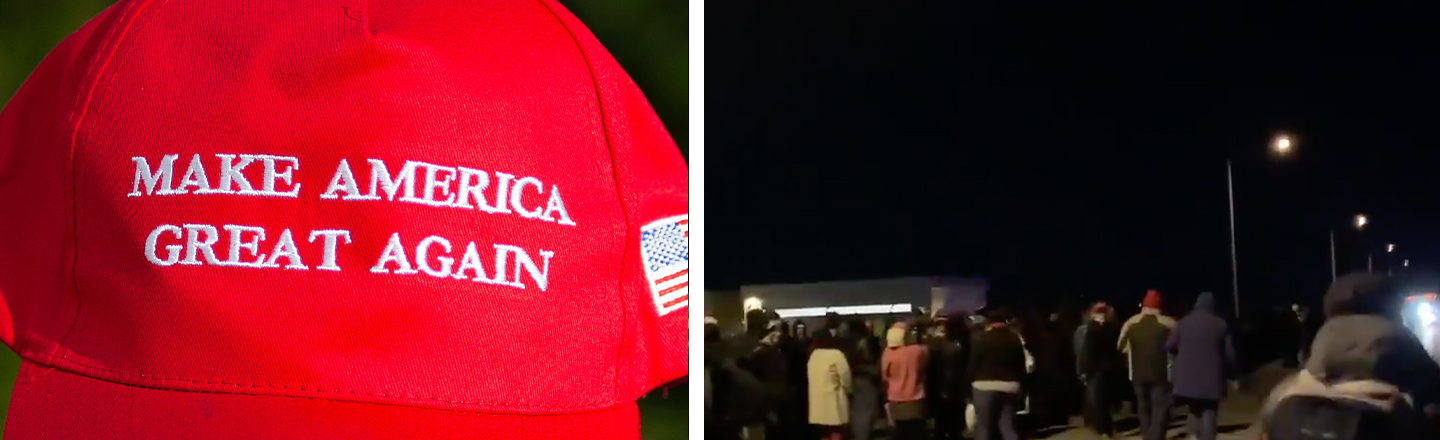Trump Rally Attendees Stranded Overnight, Some Hospitalized With Hypothermia