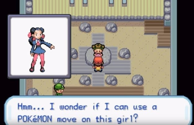 Hmm... I wonder if I can use a POKEMON this girl? move on