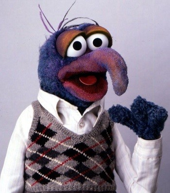 4 Things I Learned Working With Rip-Off Muppets - Gonzo from The Muppet Show pointing to himself