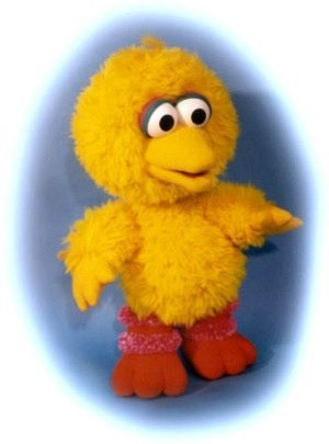 4 Things I Learned Working With Rip-Off Muppets - a baby Big Bird doll