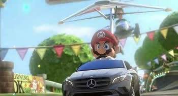 This is as close to real racing as Mario's body is to real human proportions.