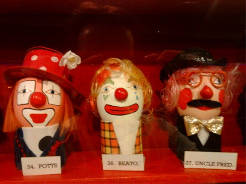 For Murky Legal Reasons, There's a Warehouse Full of Clown Eggs | Eggs with clown face paint