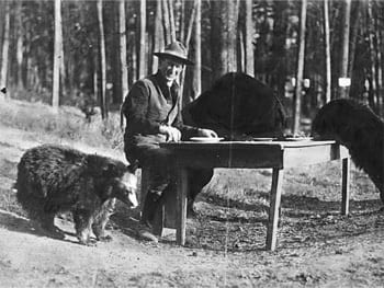 In real life, <a href=https://en.wikipedia.org/wiki/Ranger_Smith target=_blank>Ranger Smith</a> was never seen again after this photo.