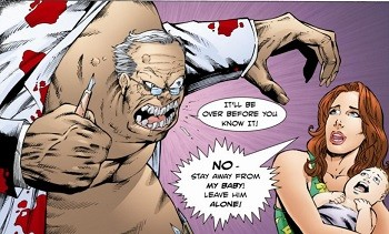 5 'What?' Superhero Stories Hollywood Can Never Make -  scenes from the Foreskin Man comic book