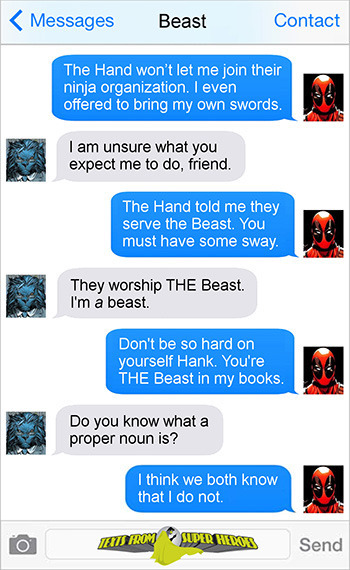 15 Texts From Last Night (From Famous Superheroes) Pt. 4