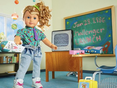 The New '80s-Themed 'American Girl' Doll Is Secretly Horrifying | American Girl doll in a classroom