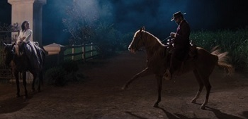Django, you just killed a bunch of people. Let's get out of here!   No. I must dance!