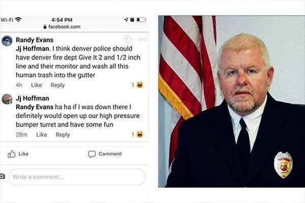 The police social media accounts are full of hate