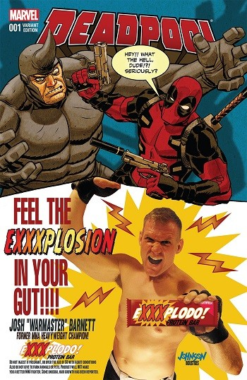 5 Forgotten Times Marvel and DC Trolled Each Other Hard - A Deadpool comic featuring Josh Barnett on the cover