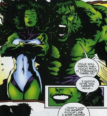 5 'What?' Superhero Stories Hollywood Can Never Make - Hulk trying to seduce She-Hulk