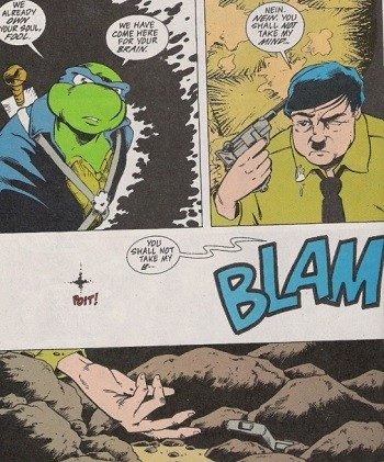 5 'What?' Superhero Stories Hollywood Can Never Make - Hitler committing suicide rather than fight the Teenage Mutant Ninja Turtles