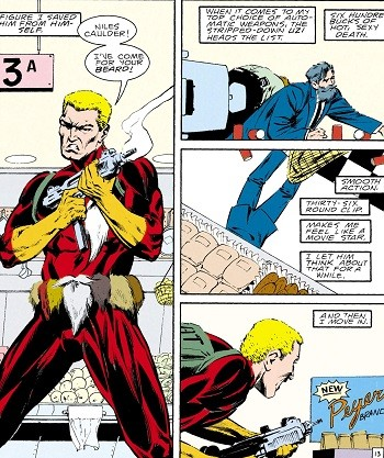 5 Forgotten Times Marvel and DC Trolled Each Other Hard - Beard Hunter, a parody of Punisher