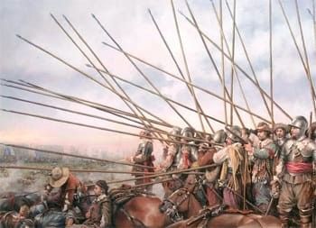 5 Bizarre Dumb Things Countries Made Citizens Do During Wars | Painting of troops with pikes
