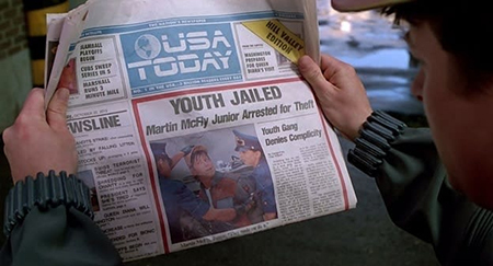 Though, in fairness, crime does seem to be down for a burglary arrest to make the front page of <i>USA Today.</i>