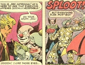 5 Forgotten Times Marvel and DC Trolled Each Other Hard - Jim Starlin, creator of Thanos, mocking Marvel using Adam Strange