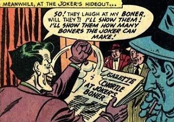 The Early Obstacles On Joker's Path To Comic Icon | Joker's boner Batman comic meme