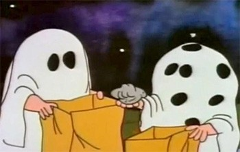 The Dark Secret Plot In 'The Charlie Brown Halloween Special' - Charlie Brown receiving a rock on It's The Great Pumpkin, Charlie Brown!