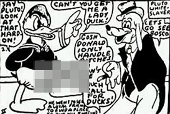 5 Historical Texts Filthier Than Anything In Modern Times a scene from the Tijuana bible Donald Duck Has A Universal Desire