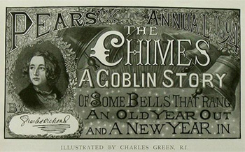 PEAR ANINUA THe SHIVES ACOBLIN STORY OF SOME BELLS THAT RANC An. OLDYEAR OUT Grarbecetn A New YEAR AND IN ILLISTRATED BY CHARLES GREEN RI