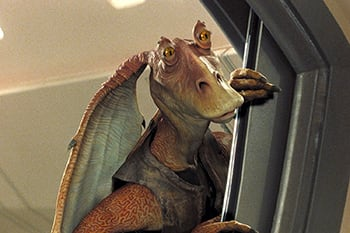 Meesa hated so much that the guy who did my voice <a href=https://www.nme.com/news/film/jar-jar-binks-actor-ahmed-best-contemplated-suicide-twitter-star-wars-episode-i-the-phantom-menace-backlash-2349704 target=_blank rel=noopener noreferrer>contemplated suicide</a>.