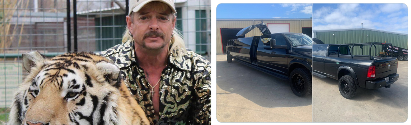 'Tiger King's' Joe Exotic Chartered a Pickup Truck Limo In Hopes of Presidential Pardon