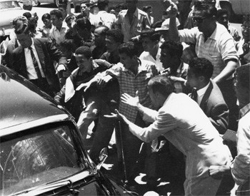 5 Forgotten Times Presidents Narrowly Escaped Death - Nixon visiting Caracas, Venezuela and being attacked by a mob