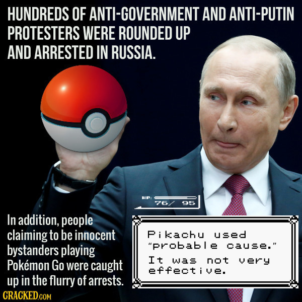 Protesters And Pokemon Go Players Arrested In Russia