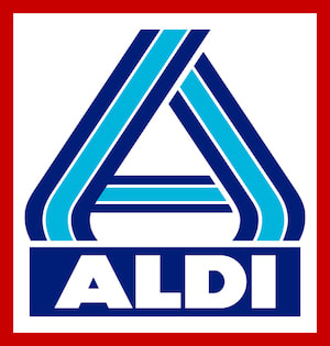 Aldi: Because nothing says bargain like a store that looks like it's having a fire sale.