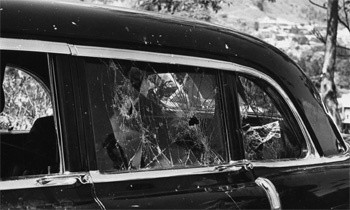 5 Forgotten Times Presidents Narrowly Escaped Death - Nixon's car being attacked by a mob in Caracas, Venezuela