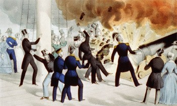 5 Forgotten Times Presidents Narrowly Escaped Death - an explosion on the USS Princeton, where John Tyler almost died