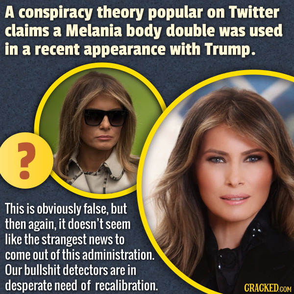 Twitter Thinks Melania Has A Body Double