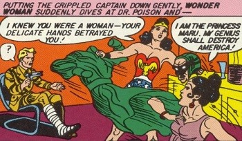 5 Characters Who Prove Wonder Woman's Villains Are The Worst -  Wonder Woman unmasking the villain Dr. Poison