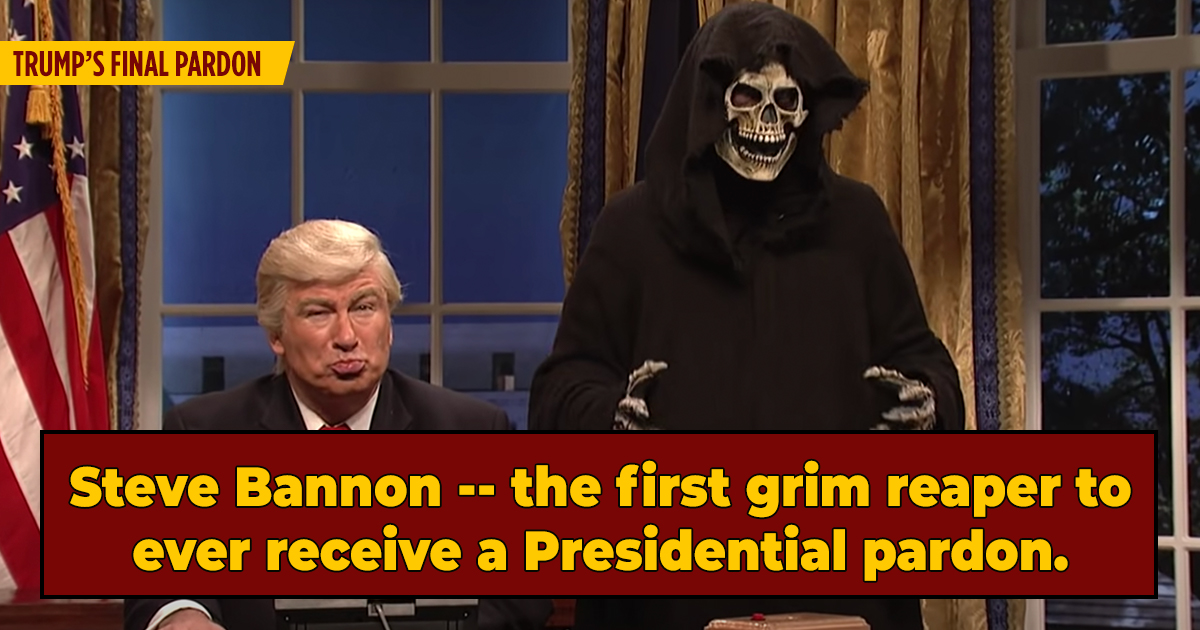 Correction: President Trump Pardoned Steve Bannon After All