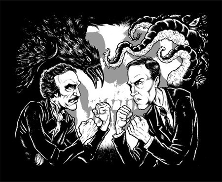 2 New Shirts for H.P. Lovecraft and 'TMNT' Fans
