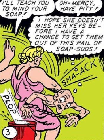 5 Characters Who Prove Wonder Woman's Villains Are The Worst - fetish-heavy scenes from early Wonder Woman comics