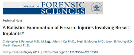 Or at least, they would've if anyone at <i>The Journal Of Forensic Sciences</i> had a speck of showmanship.
