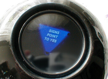 4 Occupational Hazards Stand-Up Comics Deal With magic 8ball saying signs point to yes