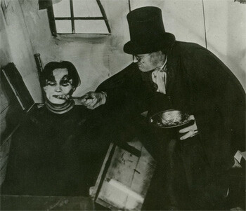 a still from The Cabinet Of Dr. Caligari