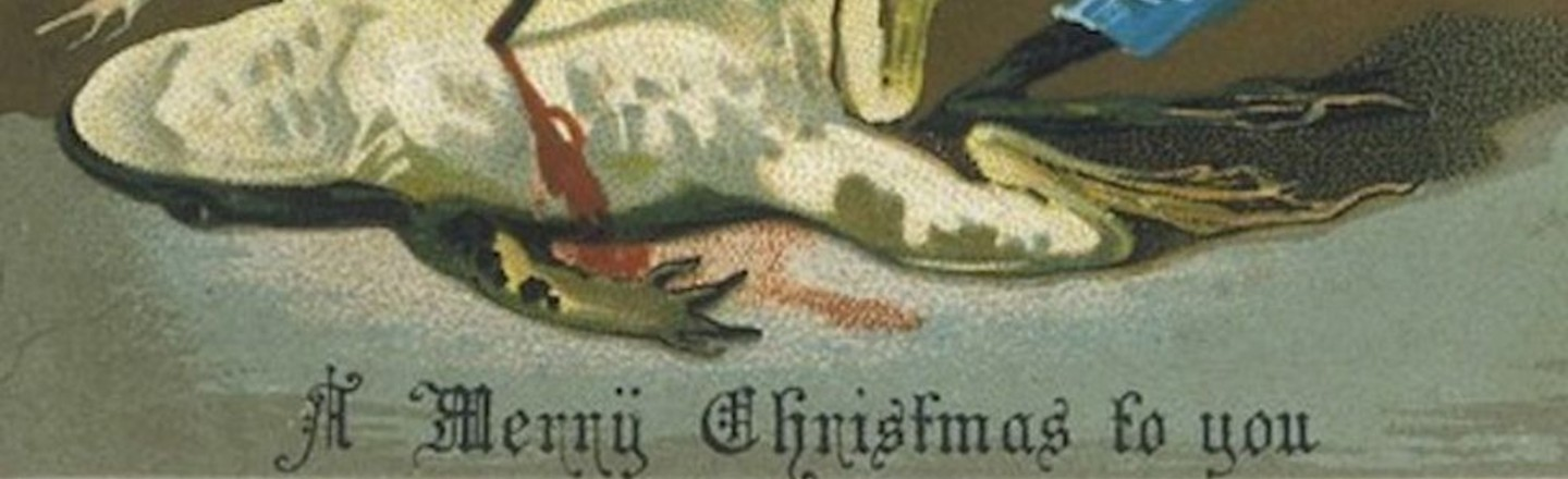 Victorian Christmas Cards Were Pure Merry Madness