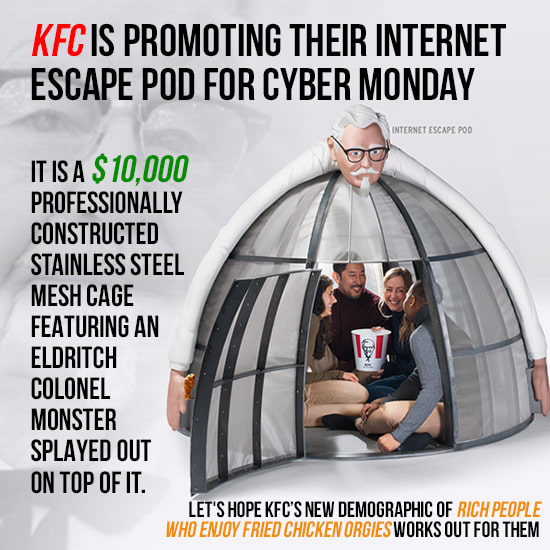 KFC's Escape Pod Is Definitely A Murder Cage, Right?