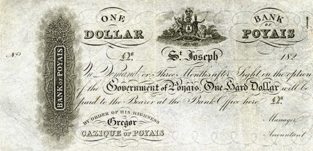 The Historical Figure Who Invented A Country (And Got Away With It) - currency of the fictional land of Poyais