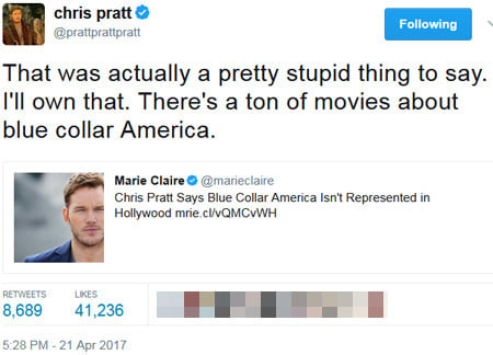 Why More Celebrities Should Use Chris Pratt's Apology Method