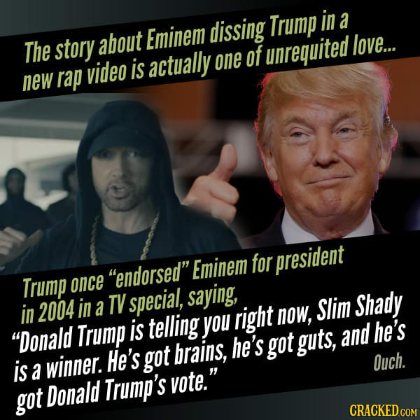 Trump Endorsed Eminem For President On A TV Special