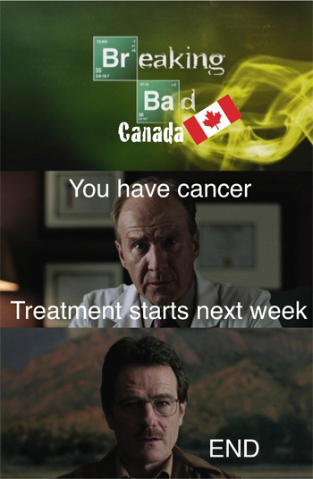 Br eaking 35 Bad Canada You have cancer Treatment starts next week END