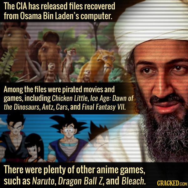 Osama Bin Laden Had Anime And Disney On His Computer