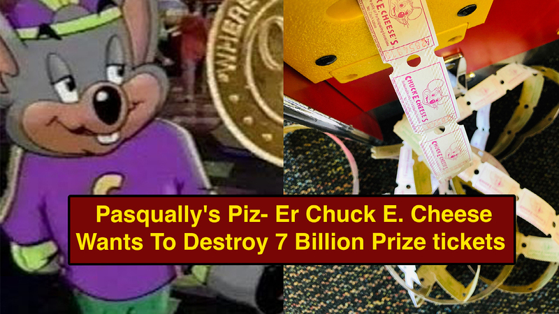 Broke Rat-Man Chuck E. Cheese Seeks To Destroy 7 Billion Prize Tickets