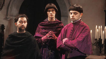Let's face it, Baldrick, we're about as fashionable as our bowl cuts.